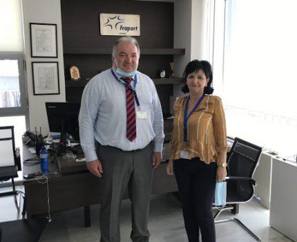 Επίσκεψη της Αντιπεριφερειάρχη, Μ. Σαλμά, στο αεροδρόμιο Ακτίου