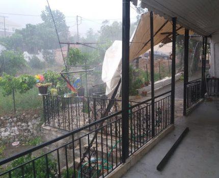 Μπαμπίνη με έντονες βροχοπτώσεις σήμερα  (φωτο -βιντεο Χρήστος Κυριαζής)