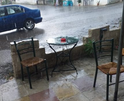 Έντονη βροχόπτωση σήμερα στη Μπαμπίνη(ΦΩΤΟ)