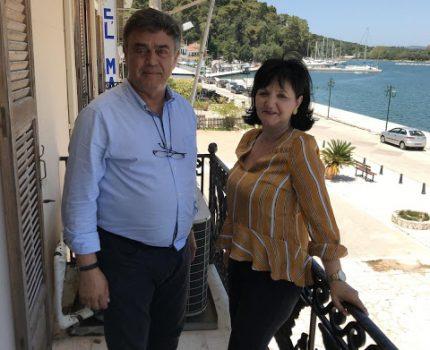 Επίσκεψη Αντιπεριφερειάρχη Π.Ε Αιτωλοακαρνανίας Μαρίας Σαλμά στο Δήμαρχο Ακτίου – Βόνιτσας